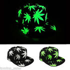 Men Women Baseball Cap Luminous Glow Leaves In the Dark Hip-Hop Snapback Hat