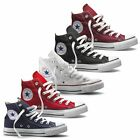 Converse Chuck Taylor All Star Hi Top Canvas Trainer Boot Maroon Navy White Red