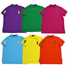 Polo Ralph Lauren Polo Shirt Mens Big Pony Logo Custom Fit Mesh Knit New V401