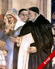 ST THOMAS AQUINAS TRIUMPH OVER HERETICS PAINTING CATHOLIC ART REAL CANVAS PRINT