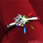 Fashion Women Lady Silver plated Wedding Ring Shiny Gemstones Gift Newest Style