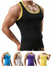 Mens Summer Body Shaper Underwear Elastic Shirt Silk Breathable Vest Tank Tops L