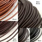 2 yards Leather Cord for Jewelry Making 1.5mm/2.5mm/3mm/4mm/4.5mm/5mm/5.5mm