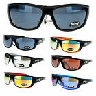 Choppers Mens Skater Motorcross Warp Biker Rectangular Sport Plastic Sunglasses