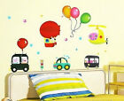Balloons Cars Hellicopter Childrens Wall Stickers Nursery Removeable Kids Room