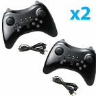 2X New Black High Quality U Pro Bluetooth Wireless Controller for Nintendo Wii U