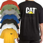 Caterpillar T shirt Men CAT Short Sleeve Trademark Logo Tee T- Shirts Cotton Top image