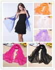 Women's Fashion Long Chiffon Scarf Wraps Shawls Soft Neck Head Vogue Scarves S