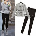 Trendy Sweatshirt Frilled Women's Outfits Tracksuit Sweatsuit Leggings Pantskirt