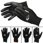 3 Pairs Black Rhino Nitrile Grip Coated Palm Work Gloves Stretch Breathable Knit