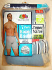 "*-7 PAIRS FRUIT OF THE LOOM M 32-34"" MENS BOXER BRIEFS SOLIDS/STRIPS"