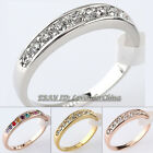 A1-R111 Fashion 4mm Wedding Band Ring 18KGP Rhinestone Crystal