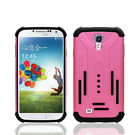 Stylish Silicone Hybrid Hard Shockproof Matte Armor Case For Galaxy S4
