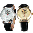 New Fashion Women Girl Luxury Crystal Automatic Mechanical Watch S Leather Strap