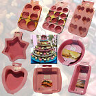 SILICONE BAKEWARE PINK MOULD PAN TIN BAKING KITCHEN COOKING BREAD CAKE LOAF FOOD