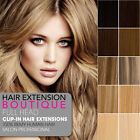 """20"""" Clip In Remy Human Hair Extensions 8 Piece Full Head - All Colours"""