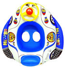 Inflatable Baby Swim Float Boat Child Safety Seat Raft Wheel Horn Baby Lake Pool