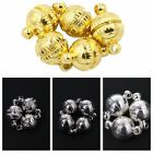 10x Hot Copper Brass Round Magnetic Clasps Findings Rhodium/Gold/Silver Plated J