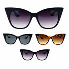 Womens Trendy Retro Oversize Large Gothic Chic Cat Eye Sunglasses