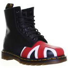 9168 Dr Martens Union Jack Unisex Leather 8 EyeLet  Ankle Boots Ladies Flat