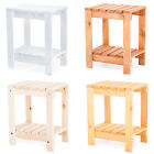 Wooden Slatted Side Table Snack Outdoor Garden Patio Furniture End BBQ Bistro