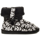 Women's Iron Fist Misfits Fiend Low Short Fugly Fugg Skull Black Boots Shoes