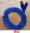 10ft 3m 8 pin Round Braided USB Data Sync Charge Cable for iPhone 5 5s 5c 6 6S 7