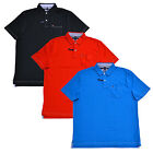 Tommy Hilfiger Mens Polo Shirt Classic Fit Interlock Pocket Contrast Stitching