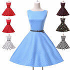 HOT Sexy Vintage Retro 50s 60s Swing Jive Pinup Floral/Polka Dot Rockabilly Dres