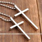 1pc Womens Mens Stainless Steel Cross Pendant Ball Chain Necklace Lovers Gift