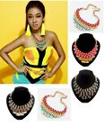 New Gold Plated Ribbon Metal  Bib Pendant Necklace Hot Selling  A1077
