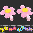 Pair Cute Sunflower Hair Accessories Wear Clip Slides for Girl Baby Kid Children