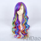 long multicolour Anime cosplay show party hair wigs toupee Carnival fans wigs