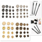 15/30 Pcs 10/12.5/15/17mm Snap Fasteners/Popper Press Stud Sewing Leather Button