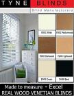 """EXCEL real wood with cords VENETIAN BLINDS - 35mm (1.5"""") Slat - made to measure"""