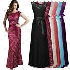 New Black Formal Long Evening Ball Gown Party Prom Bridesmaid Maxi Dresses SMXXL