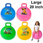 Large bouncing hopper space retro inflatable pump jump ball unisex toy game race