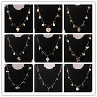 "Shinning Women 18K Gold Plated 19"" Multi Shape Pendant Necklace Chain High Sale"