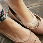 Women Fashion Antiskid Invisible Cotton Lace Liner No Show Peds Low Cut Socks S