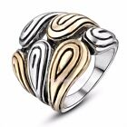 Unisex Punk Statement Ring Womens Mens Party Gift 18k Gold&Silver GP Alloy R861