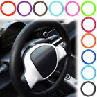 """14""""-16"""" UNIVERSAL LEATHER TEXTURE CAR AUTO SOFT SILICONE STEERING WHEEL COVER"""