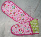 Cotton Double Oven Glove Mitt Pink Cupcake Teatime Love Tea Kitchen Cook NEW