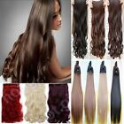 "cheap extra long clip in hair extensions one piece half head 24"" straight curly"