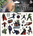 MARVEL HEROES DISNEY Temporary Tattoos Brand New and Fully Sealed (B)