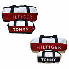 Tommy Hilfiger Set of 2 Duffle Bags Mini And Large Duffel Bag Navy Tan New P005p