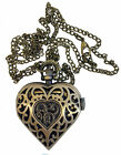 AN London Heart Shaped Hollow Necklace Pendant Chain Ladies Watches