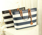 Stylish Vintage Strip Handbag Shoulder Bag Tote Purse Satchel Messenger Hobo Bag