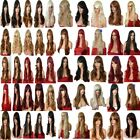 140 Styles Black Red Brown Blonde Long Curly Straight Wavy Women's Fashion Wigs