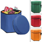 Insulated Cooler Seat Collapsible Portable Hot/Cold Camping Tailgating Picnic