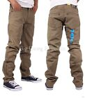 Peviani Mens Boys Whitley Slim Fit Casual Chino Jeans Time Is Hip Hop Money KAKI
